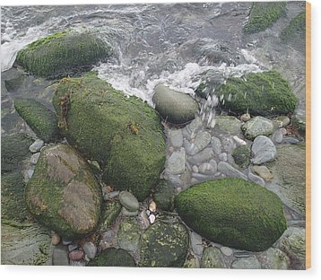 Wood Print featuring the photograph Beach Rocks by Robert Nickologianis