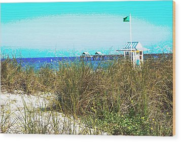 Beach Serenity Wood Print