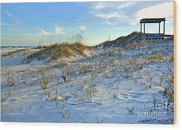 Beach Stairs Wood Print by Michelle Wiarda