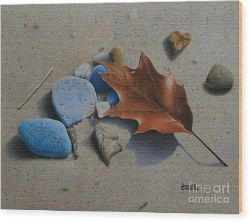 Beach Still Life II Wood Print by Pamela Clements