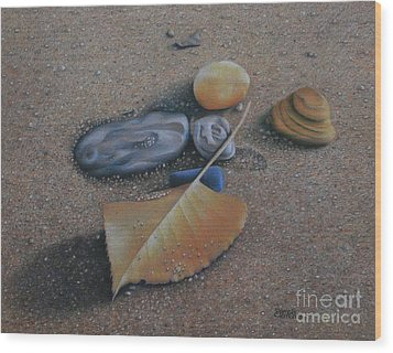 Beach Still Life IIi Wood Print by Pamela Clements