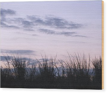 Beach Sunrise 1 Wood Print by Melissa Stoudt