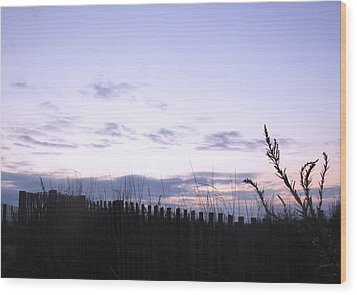 Beach Sunrise 2 Wood Print by Melissa Stoudt