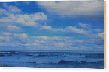 Wood Print featuring the painting Beach Through Artificial Eyes by David Mckinney