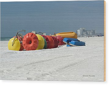 Beach Toys Wood Print by Gerald Marella