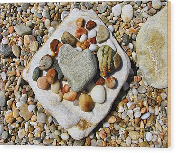Beach Treasures Wood Print by Daliana Pacuraru