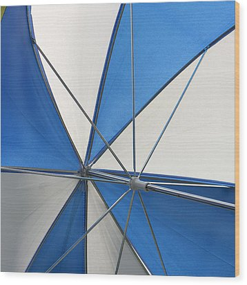 Beach Umbrella Wood Print by Art Block Collections