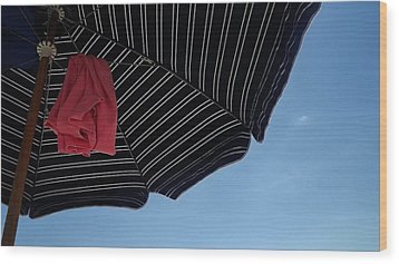 Beach Umbrella Wood Print