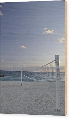 Beach Volleyball Wood Print by A R Williams
