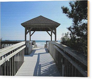 Beach Walk Wood Print by Silvie Kendall