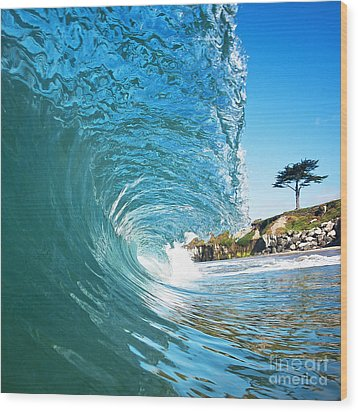Wood Print featuring the photograph Beach Wave by Paul Topp
