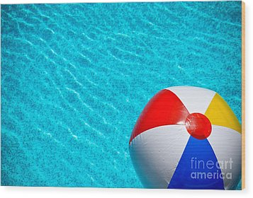 Beachball 1 Wood Print by Amy Cicconi
