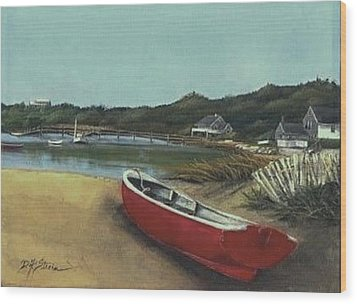 Beached Boat Wood Print