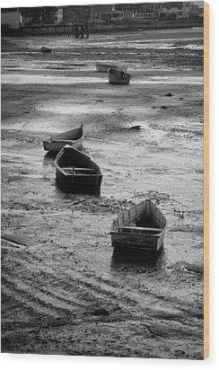 Beached Boats Wood Print by Gary Slawsky