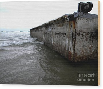 Beached Dock Wood Print by Thedustyphoenix