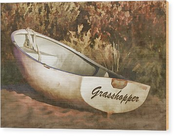 Beached Rowboat Wood Print by Carol Leigh