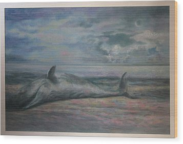 Beached Whale Wood Print by Paez  Antonio