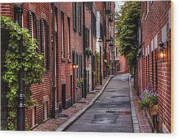 Beacon Hill Boston Wood Print