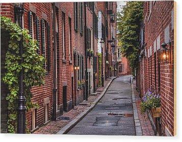 Beacon Hill Boston Wood Print by Carol Japp