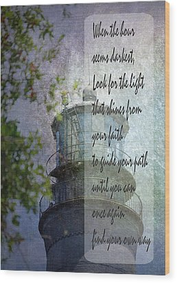 Beacon Of Hope Inspiration Wood Print