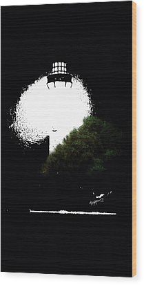Wood Print featuring the digital art Beacon Of Light by Anthony Fishburne