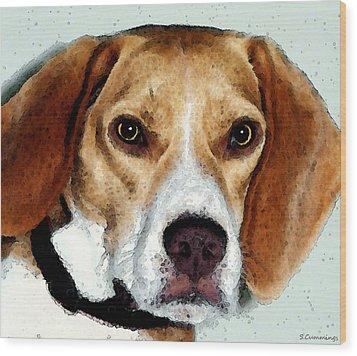 Beagle Art - Eagle Boy Wood Print by Sharon Cummings