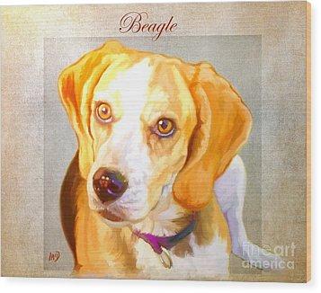 Beagle Art Wood Print by Iain McDonald