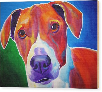 Beagle - Copper Wood Print by Alicia VanNoy Call
