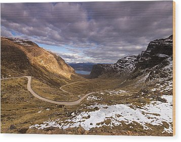 Bealach Na Ba Wood Print by Karl Normington