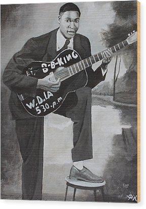 Beale Street Blues Boy Wood Print by Patrick Kelly