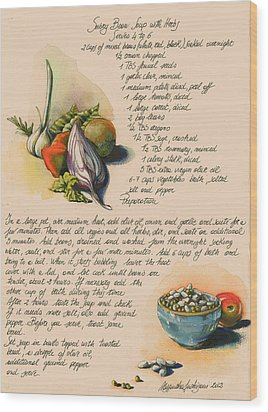 Bean Soup And Vegetables Wood Print by Alessandra Andrisani