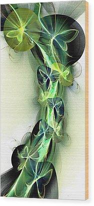 Beanstalk Wood Print by Anastasiya Malakhova