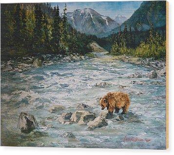 Bear Country  Wood Print by Gracia  Molloy