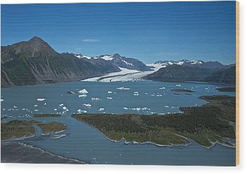 Wood Print featuring the photograph Bear Glacier Seward Alaska by Michael Rogers