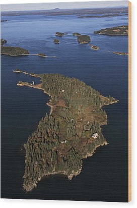 Bear Island, Penobscot Bay Wood Print by Dave Cleaveland