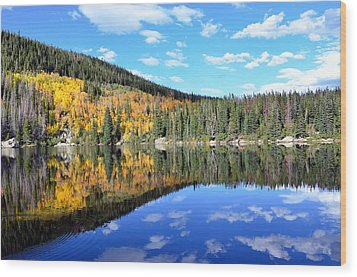 Bear Lake Reflection Wood Print