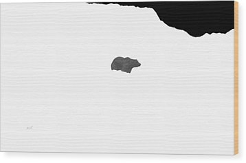 Bear Wood Print by The Art of Marsha Charlebois