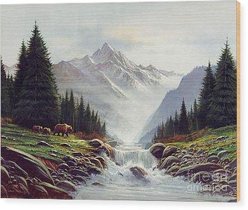 Bear Mountain Wood Print by Robert Foster