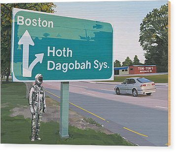 Bear Right For Hoth Wood Print by Scott Listfield