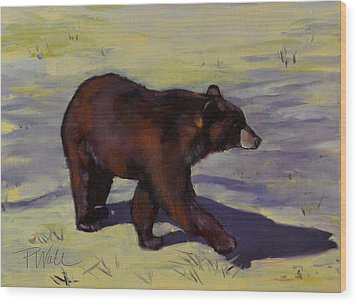Bear Shadows Wood Print