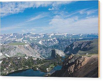 Beartooth Long Range Views Wood Print