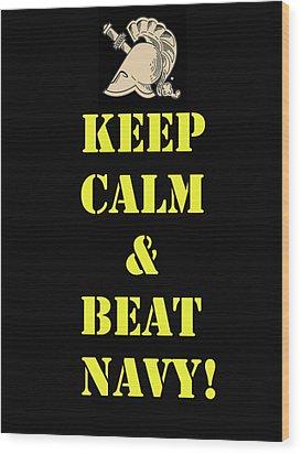 Beat Navy Wood Print