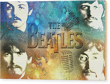 Beatle Montage Wood Print