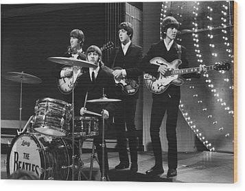 Beatles 1966 50th Anniversary Wood Print by Chris Walter