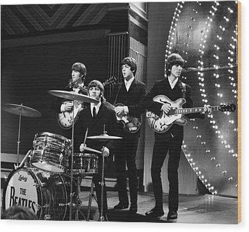 Beatles 1966 Wood Print by Chris Walter