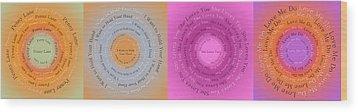 Beatles Circle Of Songs Panorama 1 Wood Print by Andee Design