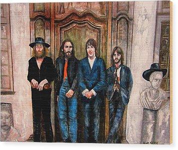 Beatles Hey Jude Wood Print by Leland Castro
