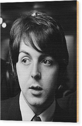 Beatles Paul Mccartney Wood Print by Chris Walter