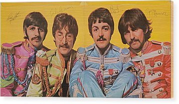 Beatles Sgt. Peppers Lonely Hearts Club Band Wood Print by Robert Rhoads