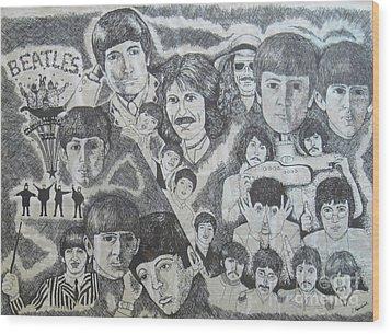 Beatles Tribute Wood Print by Susan Plenzick